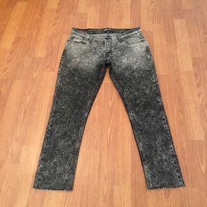 Levi's 524 Skinny Jeans Frayed Hem Acid Wash
